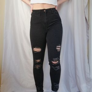 Hollister Curvy Ripped Jeans